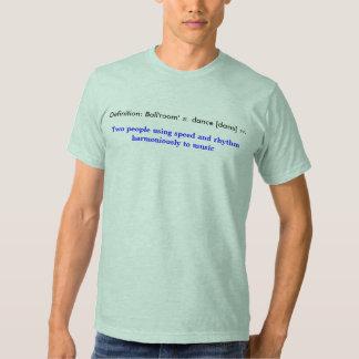 Dança de salão de baile da definição camisetas