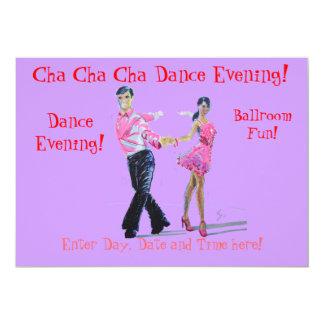 Dança de salão de baile de Cha Cha Cha Convites Personalizados