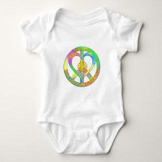 Dança de salão de baile do amor da paz body para bebê