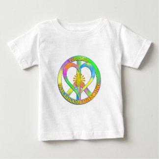 Dança de salão de baile do amor da paz camiseta para bebê