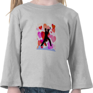 Dança de salão de baile dos corações camiseta