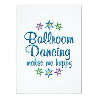 Dança de salão de baile feliz convite personalizado