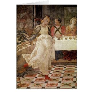 Dança de Salome no banquete de Herod Cartão