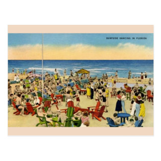 Dança de Surfside do vintage no cartão de Florida