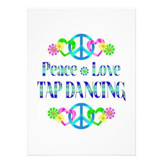 Dança de torneira do amor da paz convite personalizado