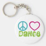 Dança do amor da paz chaveiros