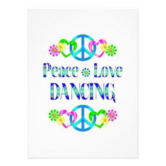 Dança do amor da paz convite personalizados