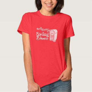 Dança do balanço com jukebox do vintage camisetas