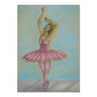 dança do balé convite 12.7 x 17.78cm