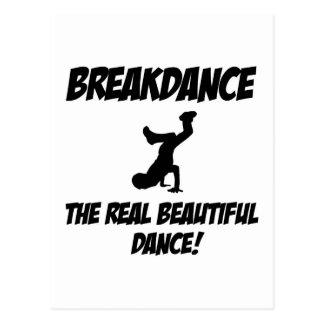 dança do breakdance cartão postal