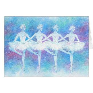 Dança do cartão das cisnes do bebê