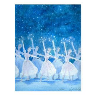 Dança do cartão dos flocos de neve