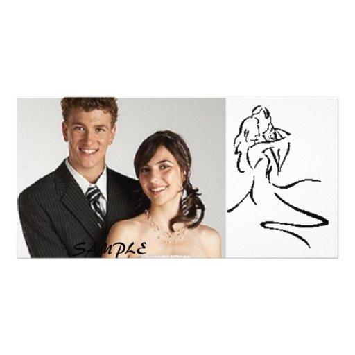 Dança do casal do vintage dos cartões de fotos cartões com fotos