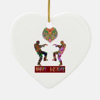 Dança do feliz aniversario ornamento para arvore de natal