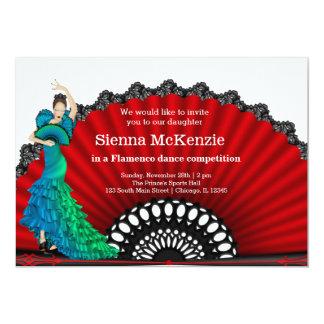 Dança do Flamenco Convite 12.7 X 17.78cm