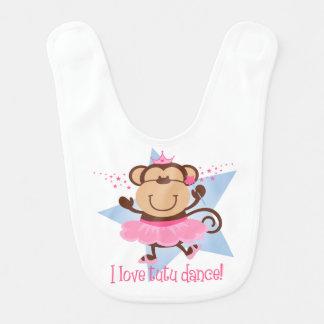 Dança do tutu do amor do macaco babador de bebe
