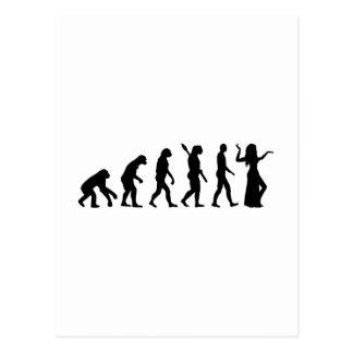 Dança do ventre da evolução cartão postal