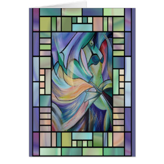 Dança do ventre de Nouveau da arte (retrato) Cartão Comemorativo