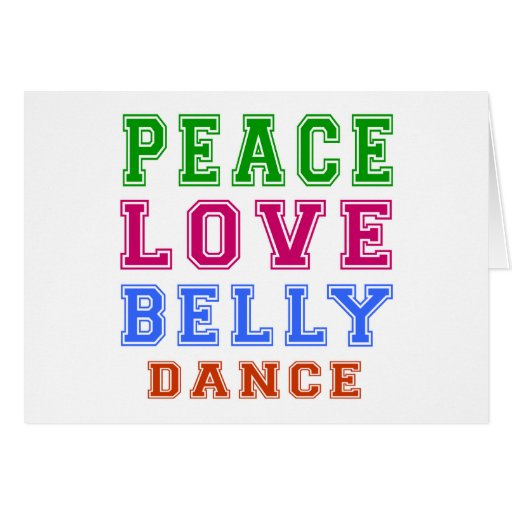 Dança do ventre do amor da paz cartao