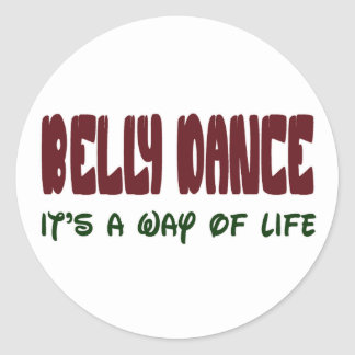 Dança do ventre é um modo de vida adesivos em formato redondos