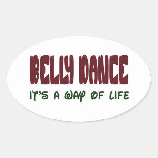 Dança do ventre é um modo de vida adesivo oval