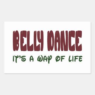 Dança do ventre é um modo de vida adesivo retangular