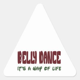 Dança do ventre é um modo de vida adesivo triangular