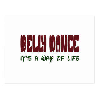 Dança do ventre é um modo de vida cartao postal