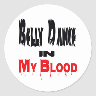Dança do ventre em meu sangue adesivo em formato redondo