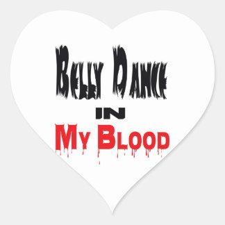 Dança do ventre em meu sangue adesivo em forma de coração