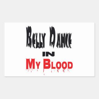 Dança do ventre em meu sangue adesivos em forma retangular