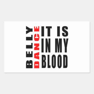 Dança do ventre está em meu sangue adesivo em forma retangular