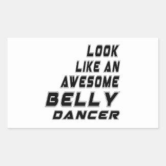 dança do ventre impressionante adesivo retangular