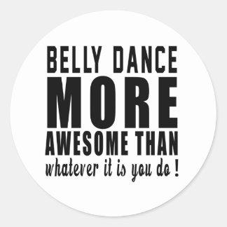 Dança do ventre mais impressionante do que o que adesivo