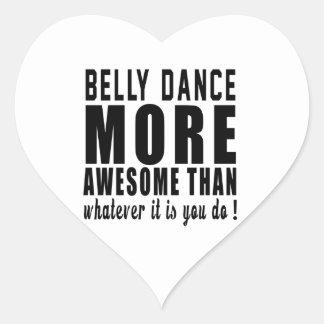 Dança do ventre mais impressionante do que o que adesivos de corações