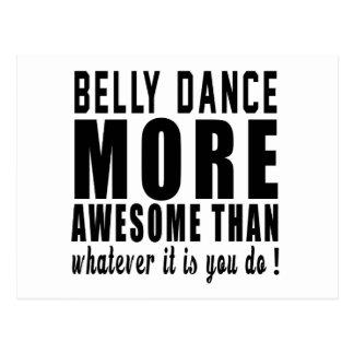 Dança do ventre mais impressionante do que o que cartão postal