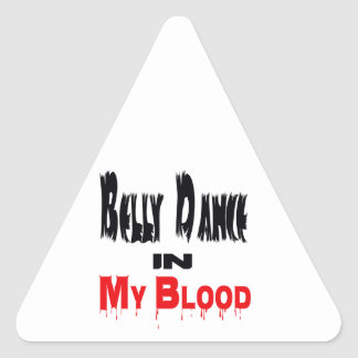 Dança do ventre no sangue adesivo em forma de triângulo