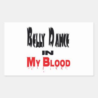 Dança do ventre no sangue adesivo em forma retangular