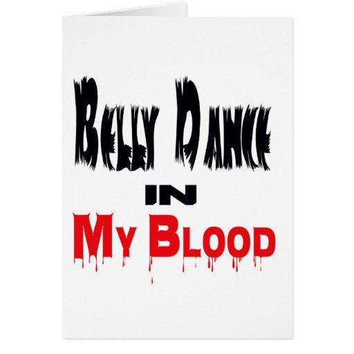 Dança do ventre no sangue cartões