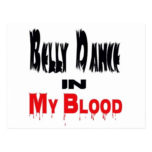 Dança do ventre no sangue cartao postal