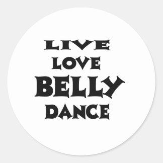Dança do ventre viva do amor adesivo