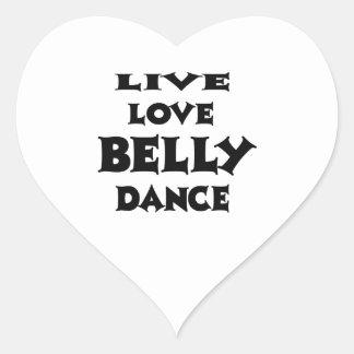 Dança do ventre viva do amor adesivo de coração