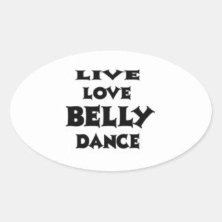 Dança do ventre viva do amor adesivo oval