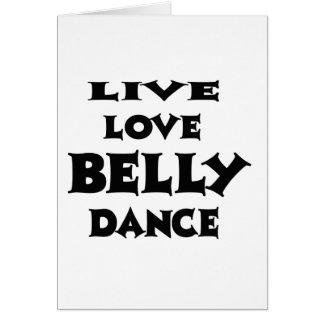 Dança do ventre viva do amor cartões