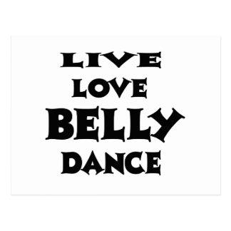 Dança do ventre viva do amor cartão postal