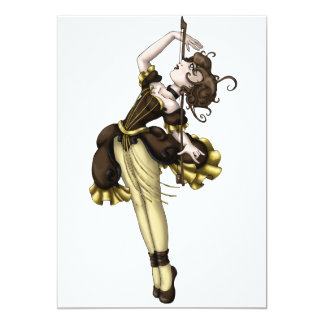 Dança do violoncelo convite 12.7 x 17.78cm