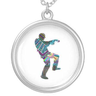 Dança do zombi ART101 por Navin Colar Com Pendente Redondo