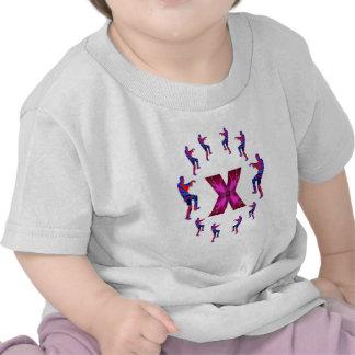 Dança do ZOMBI com alfabetos: A a Z T-shirts