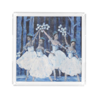Dança dos flocos de neve mim balé do Nutcracker Bandeja De Acrílico