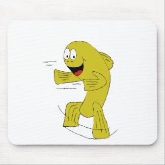 Dança dos peixes dos desenhos animados mouse pad